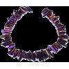 Purple quartz crystal - Necklaces -
