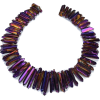 Purple quartz crystal - Necklaces -