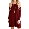 QIXING Summer Cold Shoulder Tunic Dress - People - $24.99