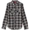 Quiksilver Boys 8-20 Asteroid Flannel Shirt Haggis grey - Long sleeves shirts - $24.98