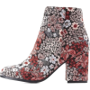Qupid Floral Brocade Ankle Booties - Stivali -