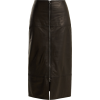 RAEY  Zip-front leather pencil skirt - Skirts -