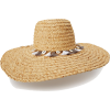 RAFFIA BRAID SHELL AND TASSEL HAT - Hüte -