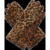 RAF SIMONS Leopard-print calf-hair glove - Gloves -