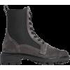 RAG & BONE Shiloh Suede Combat Boots - Čizme -