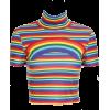 RAINBOW CROP TOP - T-shirts -