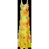 RALPH LAUREN floral satin dress - Vestidos -