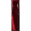 RASARIO Velvet one-shoulder robe - sukienki - 1,655.00€