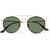 RAY-BAN Round-frame gold-tone and tortoi - 墨镜 - $165.00  ~ ¥1,105.56
