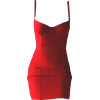 RED BODYCON DRESS - Dresses -