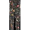 REDVALENTINO Floral-printed silk pants - Capri & Cropped -