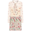 REDVALENTINO Pleated floral minidress - ワンピース・ドレス -