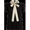 RED VALENTINO black & neutral blouse - Camicie (corte) -