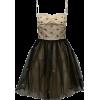 RED VALENTINO black & neutral tulle - Dresses -