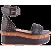 RED VALENTINO  black sandal - Sandals -