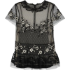 RED VALENTINO black sheer blouse - Shirts -