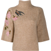RED VALENTINO neutral embroidered - Pullovers -