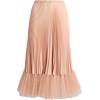 RED VALENTINO peach pink pleated skirt - Skirts -