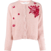 RED VALENTINO pink embroidered cardigan - Cardigan -