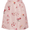 RED VALENTINO pink floral skirt - Skirts -
