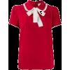 RED VALENTINO red white bow shirt - Shirts -