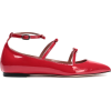 RED(V) Bow-embellished patent-leather po - scarpe di baletto -
