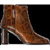 REJINA PYO Alana 75mm snake-effect ankle - Buty wysokie -
