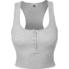 RIBBED CROP VEST - Camisas sin mangas -