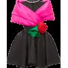 RICHARD QUINN Crystal and mesh rose-trim - Dresses -