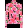 RICHARD QUINN Floral velvet turtleneck t - Long sleeves shirts -