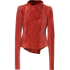 RICK OWENS Low Neck suede biker jacket - Jacket - coats -