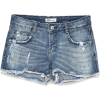 RIPPED DENIM LOW-RISE SHORTS - ショートパンツ - $35.90  ~ ¥4,040