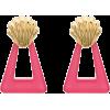 RIXO Helene triangle shell motif earring - Earrings -