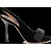 ROCHAS Crystal-embellished velvet slingb - Sandalias -