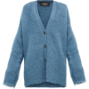ROCHAS Oversized V-neck mohair-blend car - Veste -