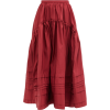 ROCHAS Pintucked gathered midi skirt - Röcke -