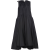ROCHAS black oversized taffeta dress - Vestiti -