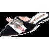ROCHAS velvet crystal embellished mule - Flats -