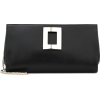 ROGER VIVIER Soft Vivier leather clutch - Torbe s kopčom -