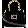 ROGER VIVIER Viv' crystal-embellished ve - Hand bag -