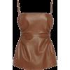 ROKH brown leather tank - Camicia senza maniche -