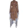ROKH brwon plaid cotton trench coat - Kurtka -