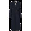 ROKH navy belted coat - Jacket - coats -