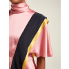 ROKSANDA  Contrast-panel draped silk top - Uncategorized -
