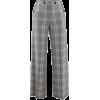 ROLAND MOURET grey & white plaid pants - Jeans -