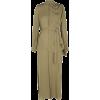 ROLAND MOURET olive silk dress - Obleke -