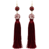ROSANTICA Optic tassel bead drop earring - Kolczyki -