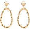 ROSANTICA clip-on loop drop earrings - Uhani -