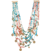 ROSANTICA layered medallion necklace - Necklaces -