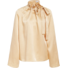 ROSETTA GETTY neutral blouse - Camisa - curtas -